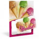 Eis-Card Eistüte für 10 Kugeln Eis