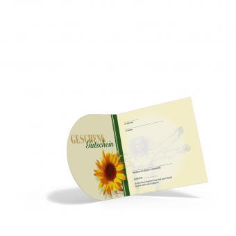 Pocket-Geschenkgutschein Sonnenblume
