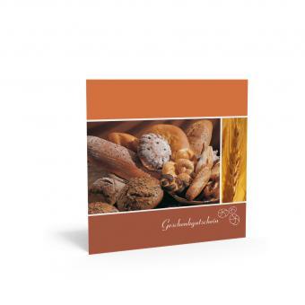 Geschenkgutschein Quadra-Brotkorb inkl. Transparen