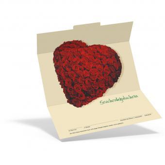 Geschenkgutschein Rosenherz