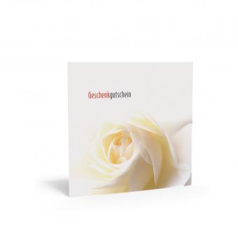 Geschenkgutschein Quadra-Weisse Rose inkl. Transpa