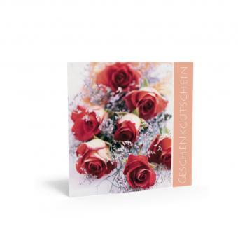 Geschenkgutschein Quadra-Rote Rose inkl. Transpare