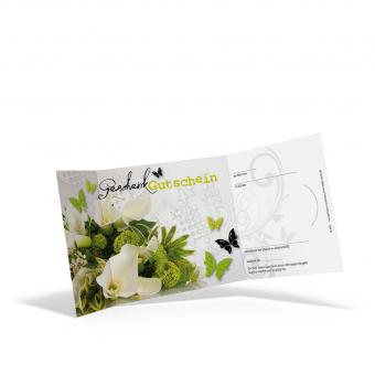Piccolo-Gutschein Fleurs vertes