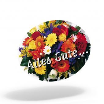 Schmucketiketten Blumenstrauß 46 x 34