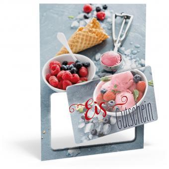Eis-Card für 10 Kugeln Eis
