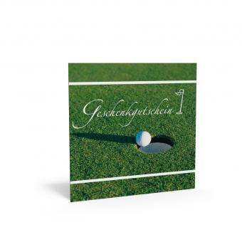 Geschenkgutschein Quadra-Golf inkl. Transparentkuv