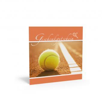 Geschenkgutschein Quadra-Tennis inkl. Transparentk