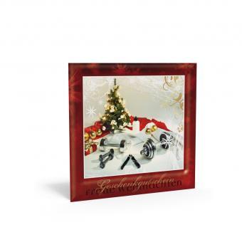 Weihnachtsgutschein Santa's Workout inkl. Transpa