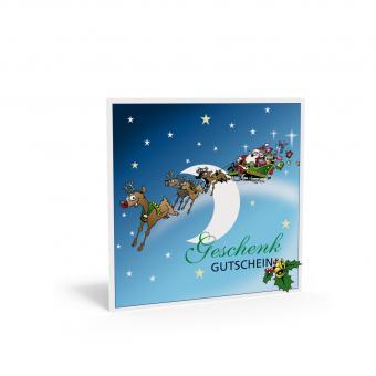 Weihnachtsgutschein Quadra-Schlitten Santa inkl. T