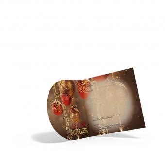 Pocket-Weihnachtsgutschein Gold-Kugel