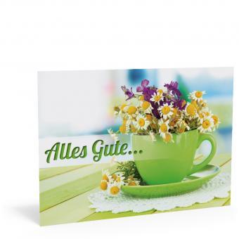 """Geburtstags-Karte """"Blumentasse"""""""