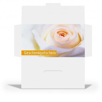 """Euro-Gutscheinhülle """"weiße Rose"""""""