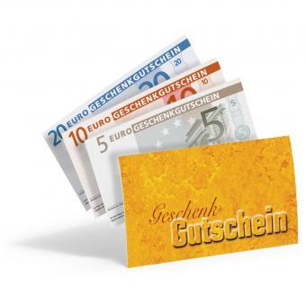 """Euro-Gutscheinhülle """"Gold"""""""