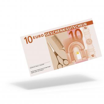 """Euro-Geschenkgutschein """"Friseur"""" mit 10,- Euro"""