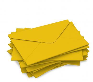 """DIN lang Kuvert """"gelb"""" für Geschenkgutscheine"""