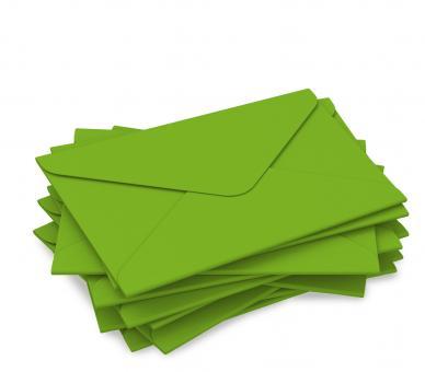 "DIN lang Kuvert ""intensivgrün"" für Geschenkgutschein"