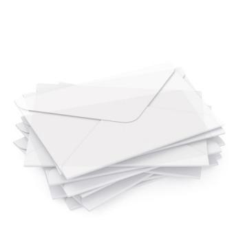 """DIN lang Kuvert """"transparent"""" für Geschenkgutscheine"""