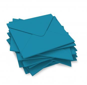 """Kuvert quadratisch """"intensivblau"""" für Geschenkgutscheine"""