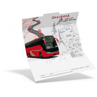 Geschenkgutschein Bus mit Europakarte