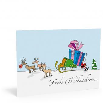"""Weihnachtskarte """"Rudolph"""""""