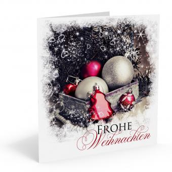 Weihnachts-Doppelkarte Baumschmuck  inkl. Kuvert