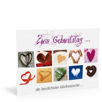 "Geburtstags-Postkarte ""Herzerl"""