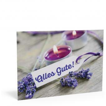 "Geburtstags-Postkarte ""Lavendel"""