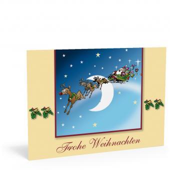 """Weihnachtskarte """"Schlitten Santa"""""""