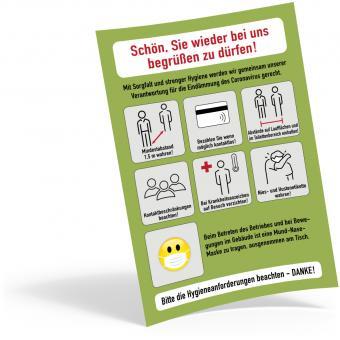 "Plakat DIN A4 Corona-Regeln - ""Gastro"""