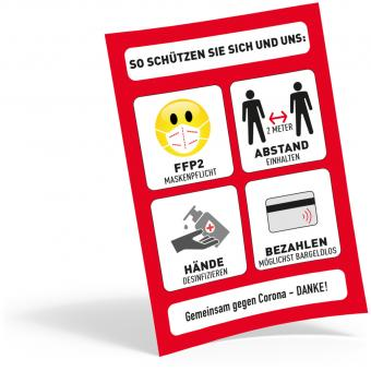 Plakat DIN A4, FFP2