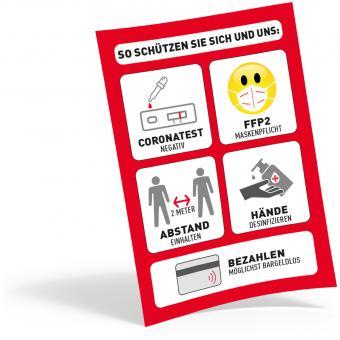 Plakat DIN A4, FFP2 + Test