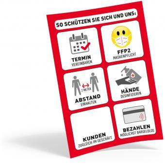 Plakat DIN A4, FFP2 + Termin
