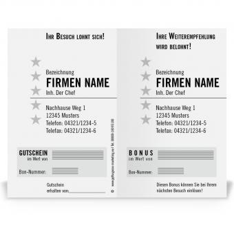 Pythagoras Marketing Gmbh Weiterempfehlungskarte Friseur Geschenkgutscheine Visitenkarten Kundenkarten Und Weitere Treuesysteme
