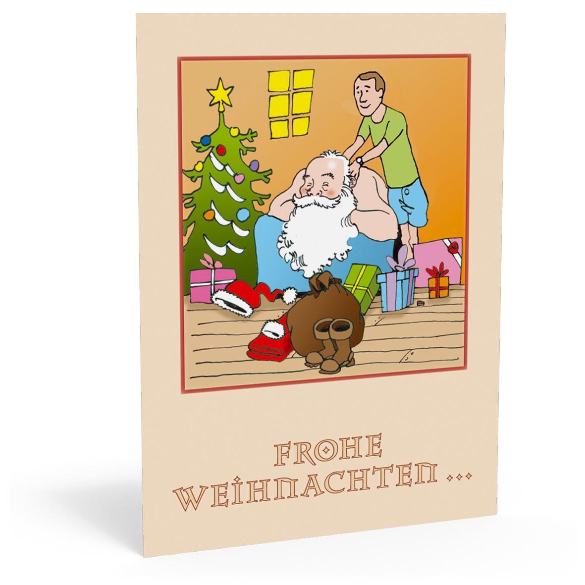 Individualisierte Weihnachtskarten.Pythagoras Marketing Gmbh Weihnachtskarte Feel Good Santa Geschenkgutscheine Visitenkarten Kundenkarten Und Weitere Treuesysteme