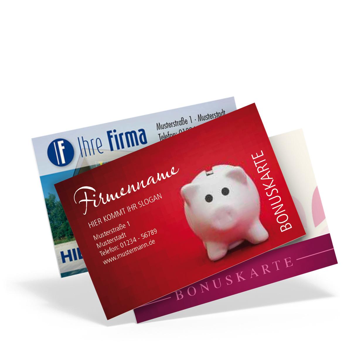 Pythagoras Marketing Gmbh Bonuskarte 2 Seitig Und Individuell Geschenkgutscheine Visitenkarten Kundenkarten Und Weitere Treuesysteme